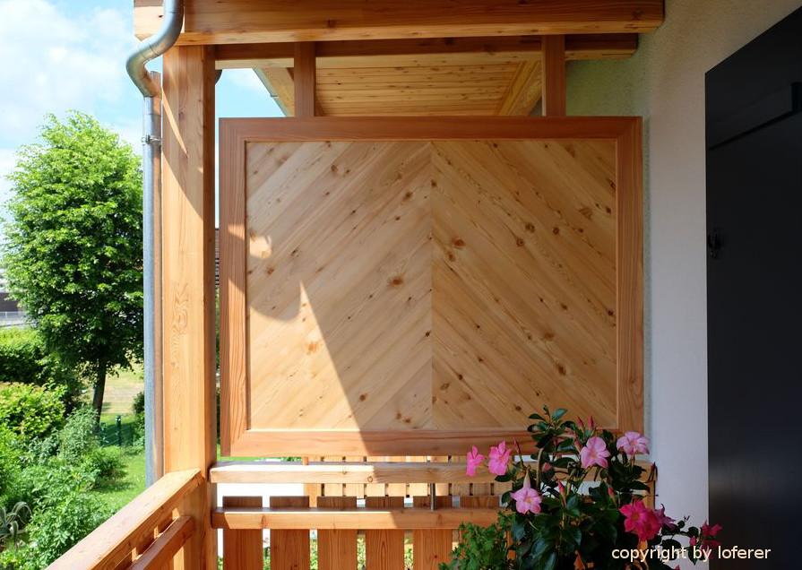 Balkon Sichtschutz in Lärche