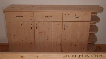 Zirbelkiefer schrank for Sideboard zirbenholz