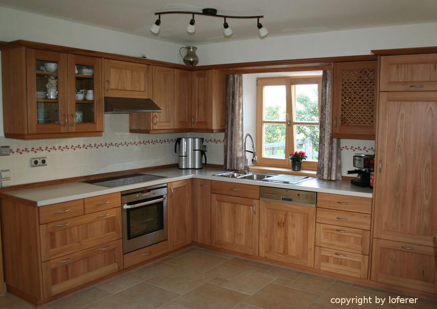Küche Ulme vom Schreiner aus Oberbayern