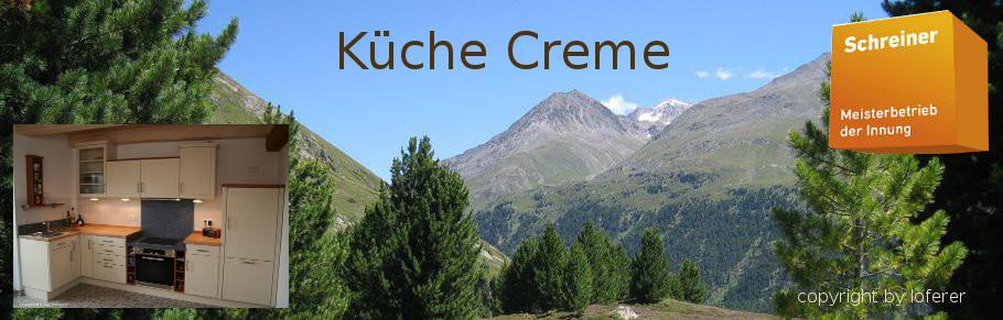 Küche creme vom Schreiner aus Oberbayern