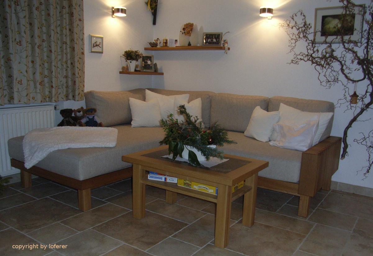 Couch in Ulme natur geölt