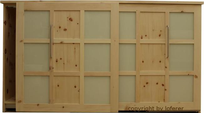 Sideboard in Zirbe mit Schiebetüren