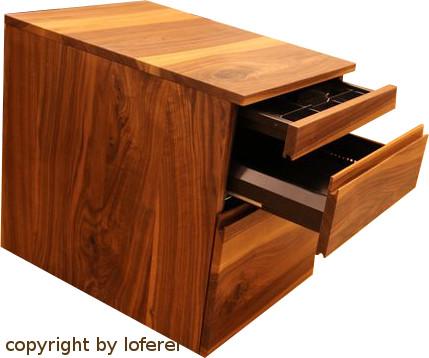 Nussbaum Schreibtisch Container