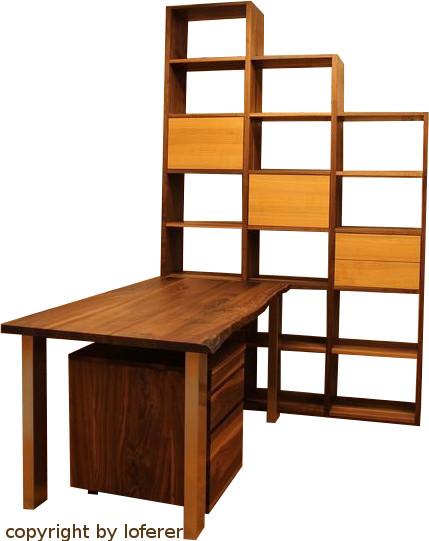 Schreibtisch Nussbaum