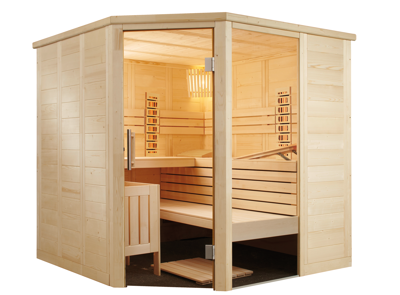 Sauna Fichte massiv